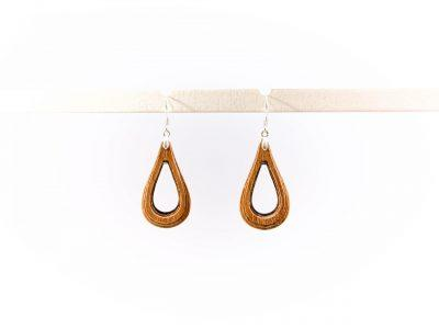 Handmade wooden earrings