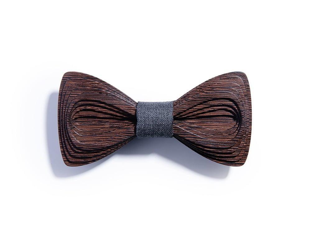 SÖÖR Antero Wenge Dark Grey wooden bow tie