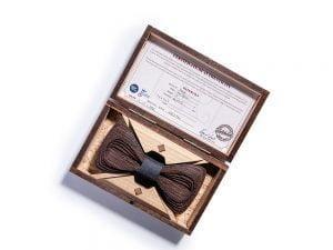 SÖÖR Antero Wenge Dark Grey wooden bow tie for men