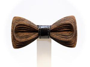 SÖÖR Antero Leather Wenge wooden bowtie
