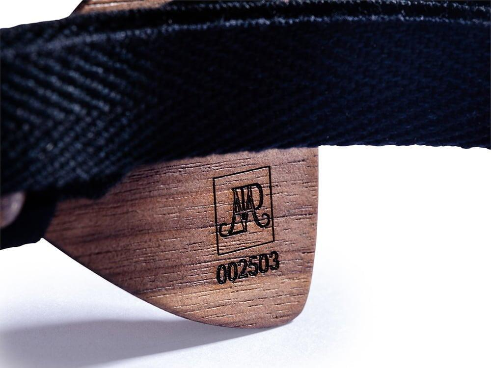 SÖÖR neckwear identification number for each unique wooden bow tie